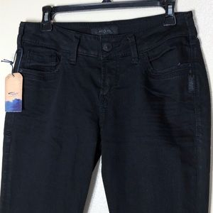 🔵 Silver Jeans Suki Ankle Skinny Distressed